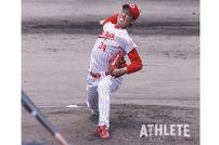 """<div class=""""caption"""">2006年高校生ドラフト1巡目でカープに入団した前田健太投手。ルーキーイヤーは背番号34を背負っていた。</div>"""