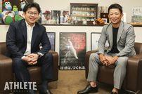 """<div class=""""caption"""">創建ホーム・専務取締役の山本慎さん(左)と元カープ・梵英心さん(右)が、人気CMの歴史を語り尽くす!</div>"""