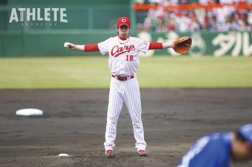 """<div class=""""caption"""">2008年、プロ2年目の前田健太投手は一軍登板未経験ながら背番号18を託された。</div>"""