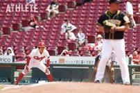 """<div class=""""caption"""">2年目の今季も持ち味の足で塁上を賑わせている大盛選手。</div>"""