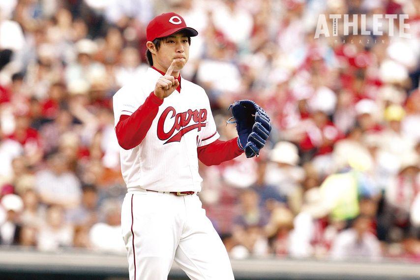 "<div class=""caption"">高校時代から広島と""縁のある""野村祐輔投手。即戦力右腕としての期待に応え、球団史上8人目となる新人王を獲得した。</div>"