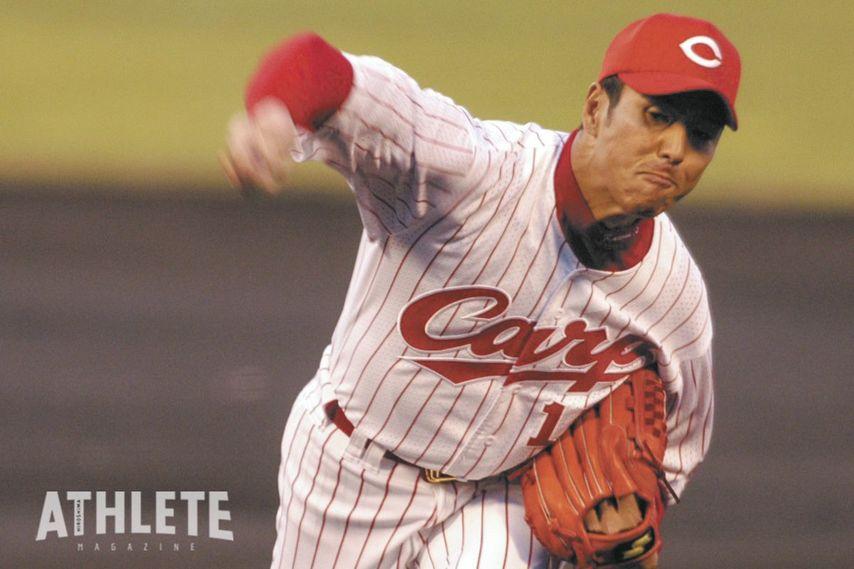 """<div class=""""caption"""">2003年、初の開幕投手を務めた黒田は、この年に自身初となる200投球回も達成。</div>"""