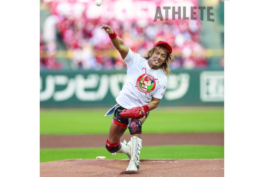 "<div class=""caption"">1982年6月22日生、東京都出身/180㎝・102kg/新日本プロレス所属。2017年8月27日に行われた中日戦で始球式を務めた内藤選手。キャッチャーミットめがけ、あっせることなくボールを投げ込んだ。</div>"